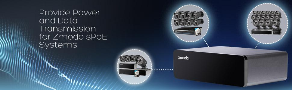 Details about Zmodo / SHO 8 Channel sPoE Repeater for Zmodo Funlux SHO sPoE  Cameras